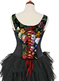 Antique Roses, with black stretch silk - Baba Store - 4