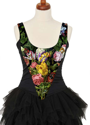 Antique Roses, with black stretch silk - Baba Store - 3