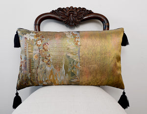 Unique cushion, Japanese obi, silk pillow, vintage, cushion, decorative pillow, one-off design by Baba Studio