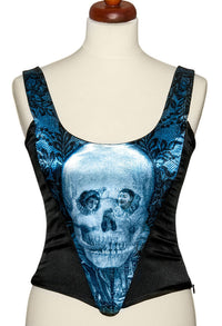 L'amour de Pierrot, blue slate, with black stretch silk - Baba Store - 1