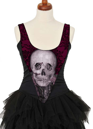L'amour de Pierrot, burgundy, with black stretch silk - Baba Store - 3