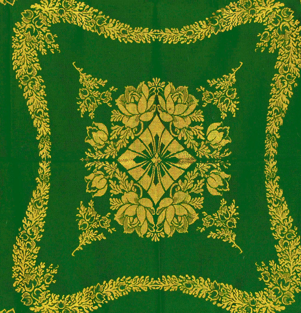SALE! Art Nouveau green and gold cloth. Gorgeous, rare piece. - Baba Store - 2