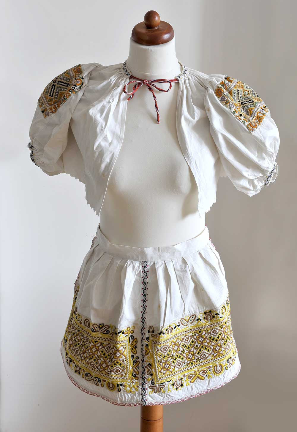 Czech/Moravian antique child's kroj folk costume - rare find and wonderful hand work. - Baba Store - 2