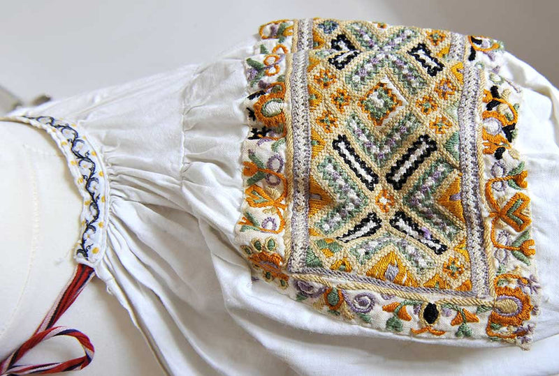 Czech/Moravian antique child's kroj folk costume - rare find and wonderful hand work. - Baba Store - 1