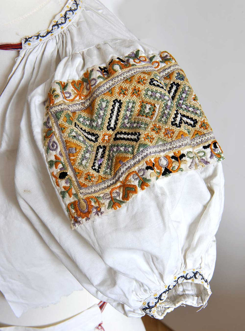 Czech/Moravian antique child's kroj folk costume - rare find and wonderful hand work. - Baba Store - 3