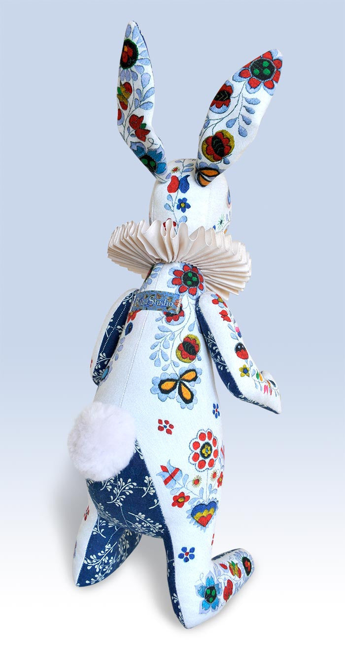 "RESERVED The White Rabbit ""Indigo Alice"" art doll — One off - Baba Store - 3"