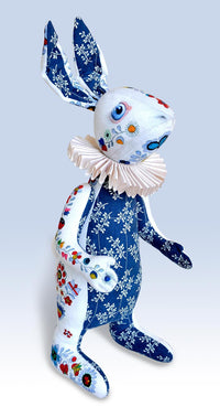 "RESERVED The White Rabbit ""Indigo Alice"" art doll — One off - Baba Store - 2"
