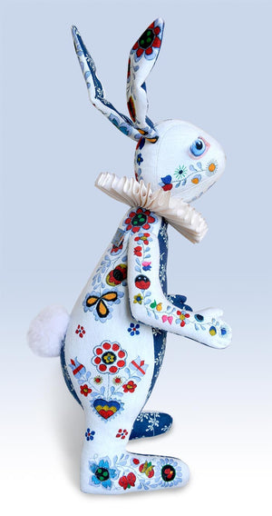 "RESERVED The White Rabbit ""Indigo Alice"" art doll — One off - Baba Store - 4"