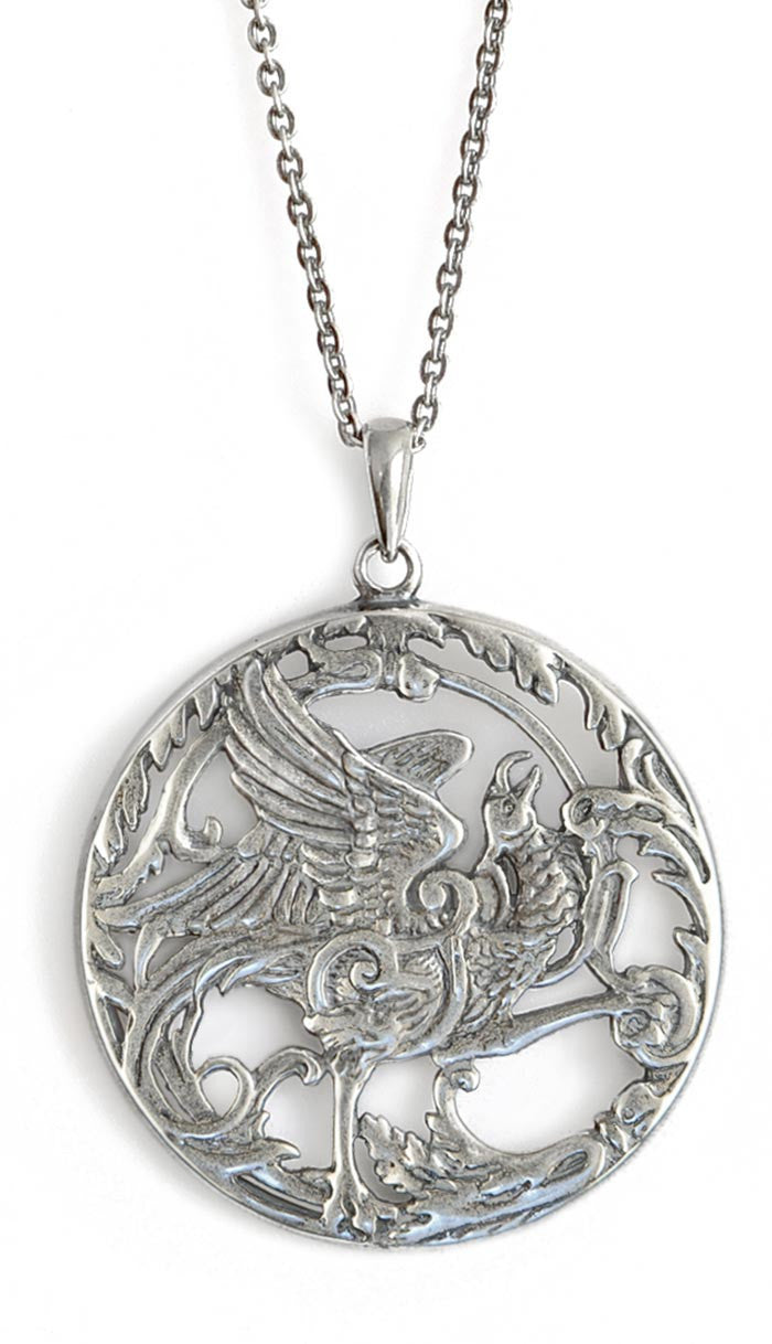 Phoenix Rising, sterling silver pendant - Baba Store - 2