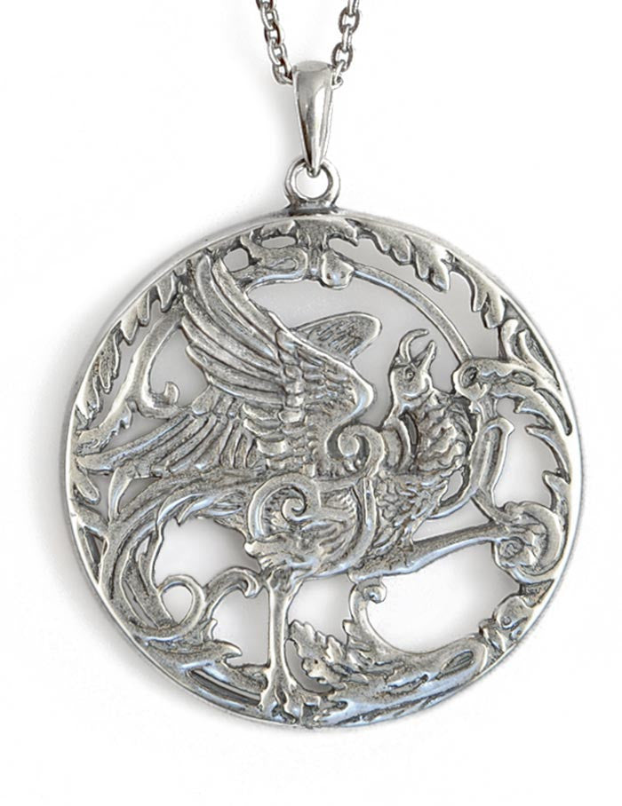 Phoenix Rising, sterling silver pendant - Baba Store - 1