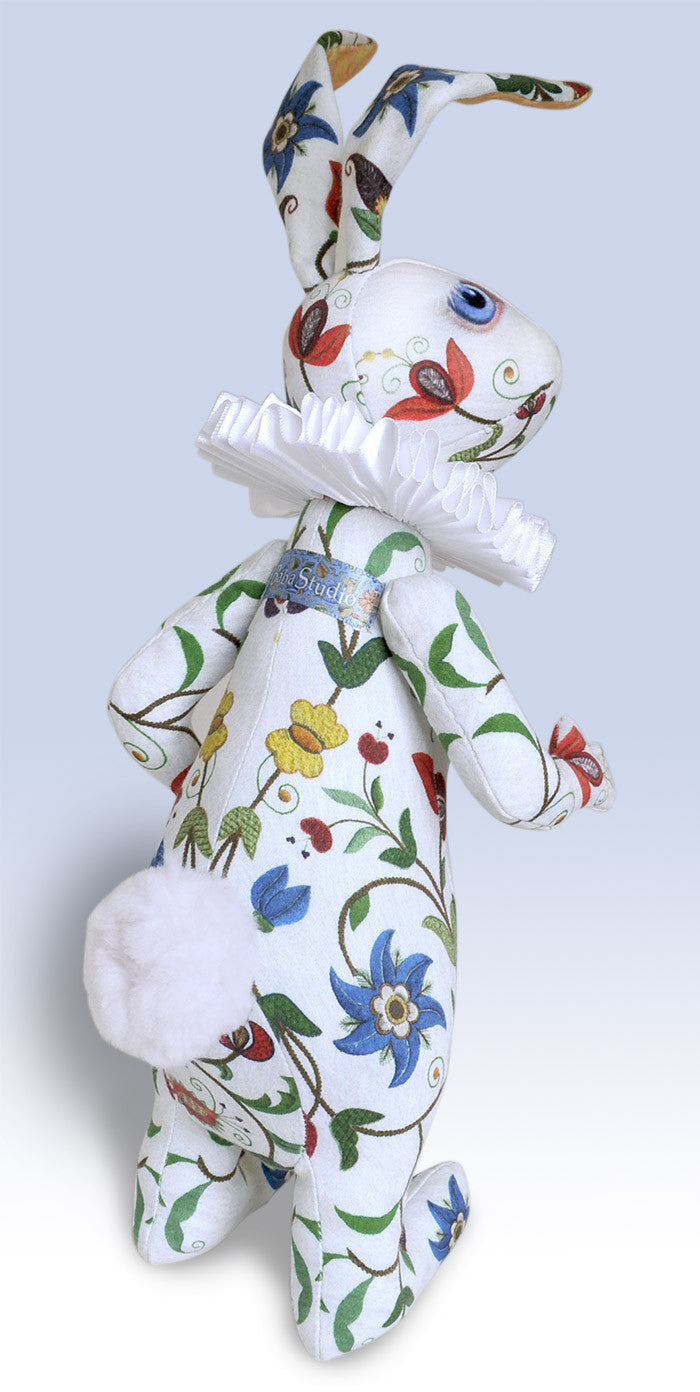 "The White Rabbit ""Dreams of Flora"" art doll — One off - Baba Store - 3"