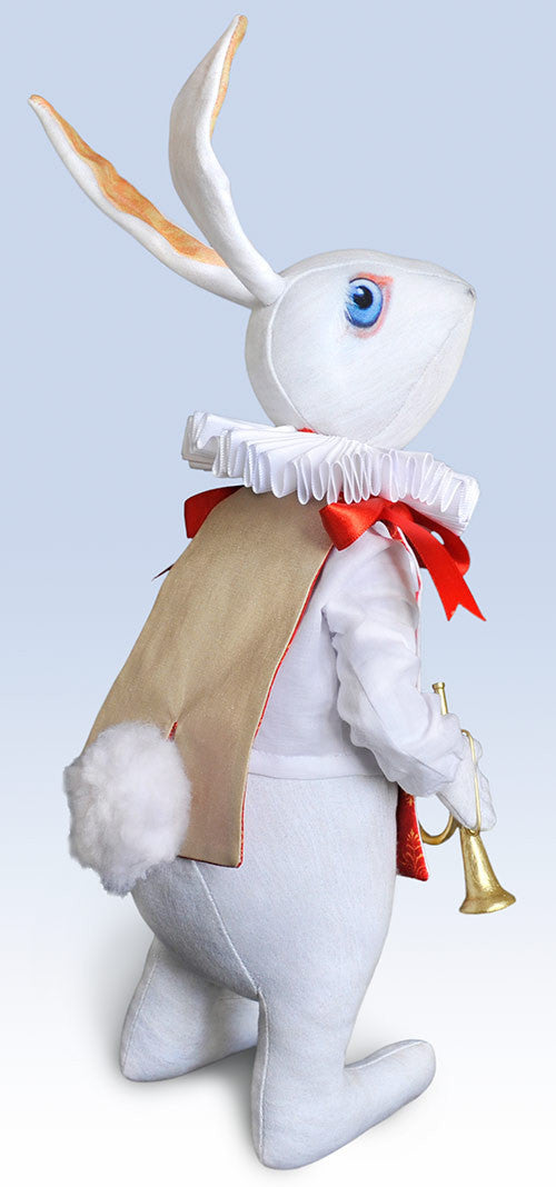 "The White Rabbit ""Herald"" art doll, Limited edition of 100 - Baba Store - 2"