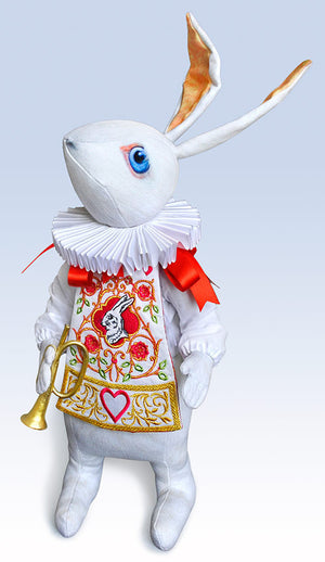 "The White Rabbit ""Herald"" art doll, Limited edition of 100 - Baba Store - 1"