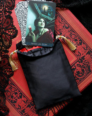 Slight Second Bundle. The Devil, limited edition drawstring & Black silk satin drawstring