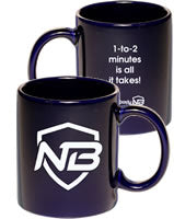 Blue Mug of NERDbody Motivation