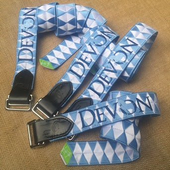 "Boy-O-Boy Bridleworks satin ""Devon"" Double Square Loop belts."