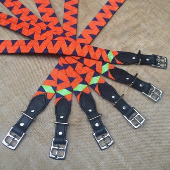 Boy-O-Boy Bridleworks custom Stirrup Buckle Belts.