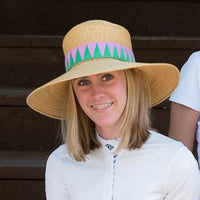 READY TO SHIP Wide-Brim Sun Hat with Woven Ribbonwork Band
