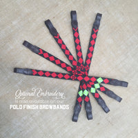 Boy O Boy Bridleworks Custom Polo Finish Browband