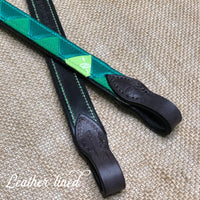 Boy O Boy Bridleworks Custom Polo Finish Browband Lining