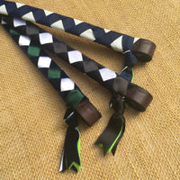 Boy O Boy Bridleworks Straight Traditional Finish Browband Tassels Loops