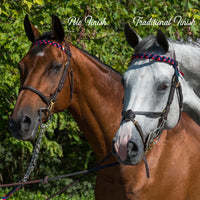 Boy O Boy Bridleworks Straight Traditional Finish Browband vs. Polo Finish Browband