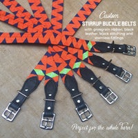 Boy O Boy Bridleworks Custom Stirrup Buckle Belts in Barn Colors