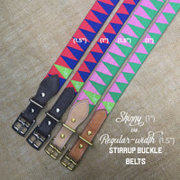 Boy O Boy Bridleworks Skinny vs. Regular Width Stirrup Buckle Belts