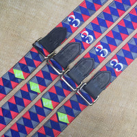 Boy O Boy Bridleworks USHJA Zone 3 Jumper Team Double Square Loop Belt