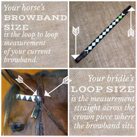 Boy O Boy Bridleworks Browband Loop and Measurement Guide