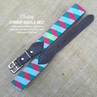 Boy O Boy Bridleworks Custom Stirrup Buckle Belt with Satin Ribbon