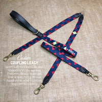 Boy O Boy Bridleworks Custom Branded Satin Coupling Leash