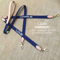 Boy O Boy Bridleworks Custom Embroidered Coupling Leash