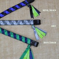 Boy O Boy Bridleworks Ready-to-Ship Haymarket Satin Traditional Finish Browband Color Combinations
