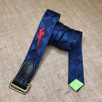 Boy O Boy Bridleworks Special Edition USHJA Double Square Loop Belt Navy