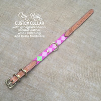 Boy O Boy Bridleworks Itty Bitty Custom Dog Collar with Buckle
