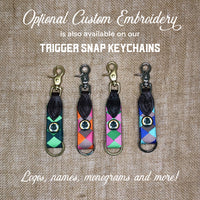 Boy O Boy Bridleworks Trigger Snap Keychain Embroidery Options