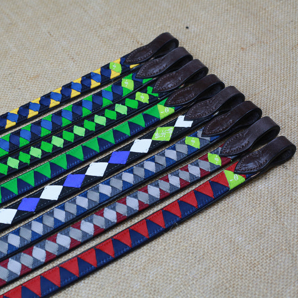 Boy O Boy Bridleworks Ready-to-Ship Old Favorites Grosgrain Polo Finish Browband