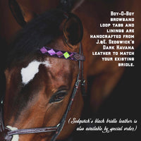 Ready-to-Ship CLASSIC SATIN & VELVET Polo Finish Browbands