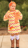 Candy Corn Chevron Dress