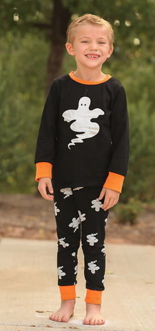 Black Ghost Boy Pajamas Set