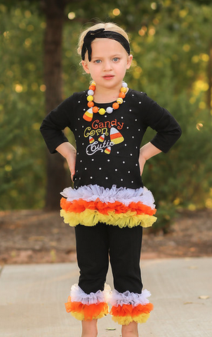 Candy Corn Cutie Capri Set