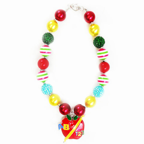 Abc Apple Rainbow Necklace Chunky Gumball