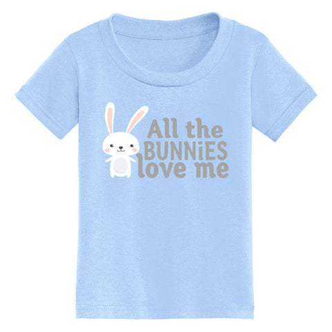 All The Bunnies Love Me Shirt Blue Gray
