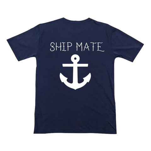 Anchor Ship Mate Shirt Navy Boy White
