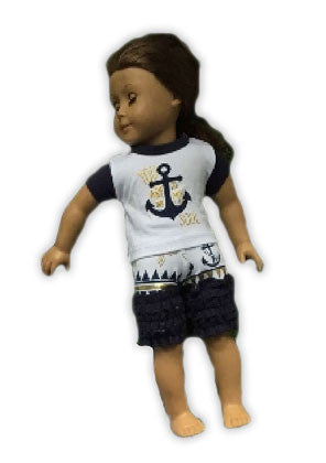 Anchor To My Soul Aztec Baby Doll Capri Set