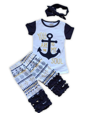 Anchor To My Soul Aztec Capri Set