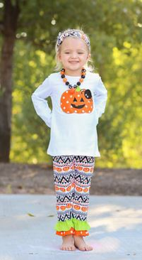 Aztec Spider Pumpkin Capri Set