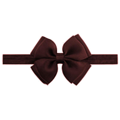 Baby Brown Double Bow Headband
