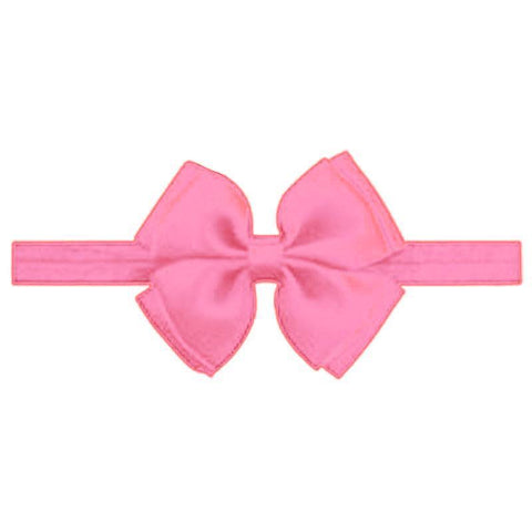 Baby Hot Pink Double Bow Headband